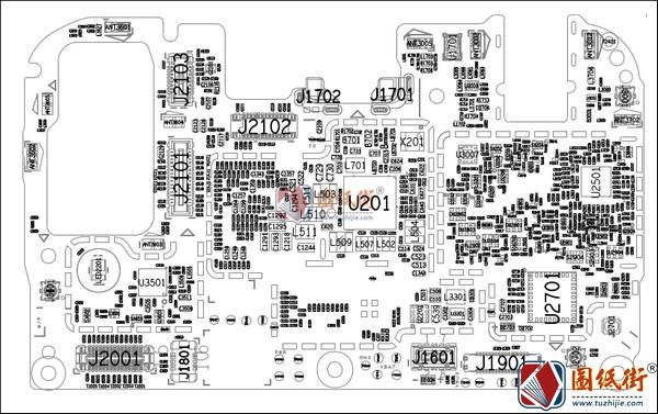 华为荣耀8C/honor 8c手机图纸-位号图