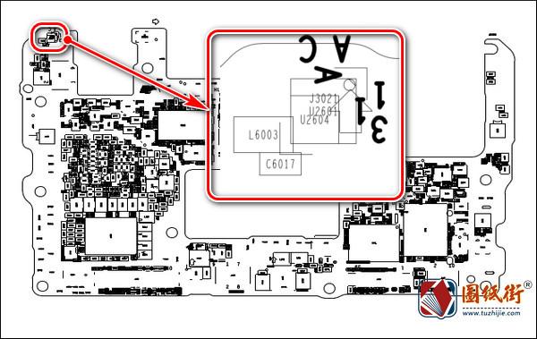 华为Mate 20X HL1EVERM VER.C手机主板元件位号图