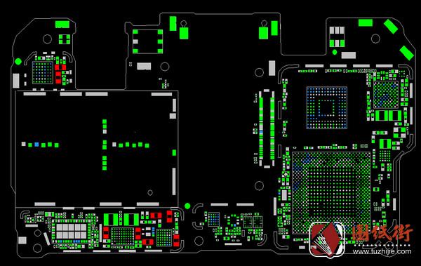 华为Mate10手机PCB点位图