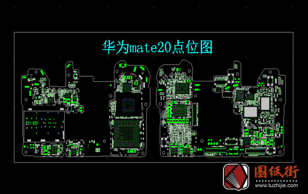 华为Mate20 HL1HIMAM VER.D手机主板元件位号图