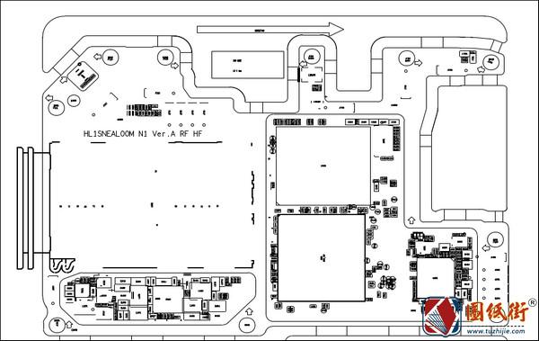 华为Nova3i HL1SNEAL00MN1 Ver.A主板元件位号图