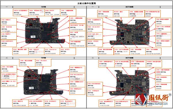P20Pro原厂故障维修指导-实物点测图 维修流程思路 全景图