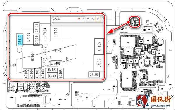 华为麦芒7 HL2SNEAL00主板元件位号图