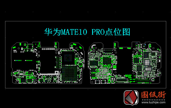 华为Mate10pro手机PCB点位图