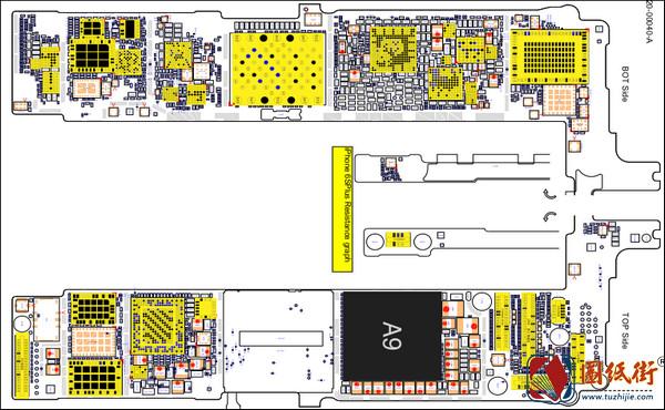 iPhone 6SP 820-00040-A对地阻值图