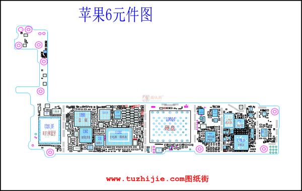 手机电路图纸免费预览-苹果iphone6主板元件位号图