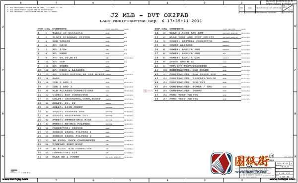 iPad3 J2 MLB-DVT OK2FAB 051-8773电路图纸