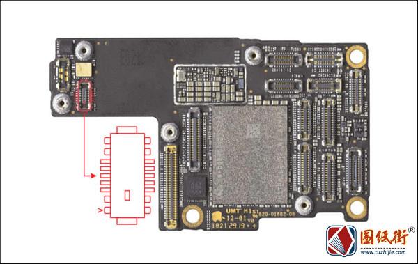 iPhone 11 Pro 下天线接口座对地阻值
