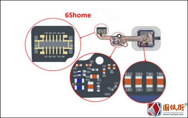 iPhone6s home键主要电压及阻值