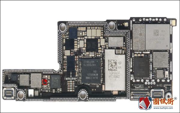 iPhoneX NFC供电管对地阻值图