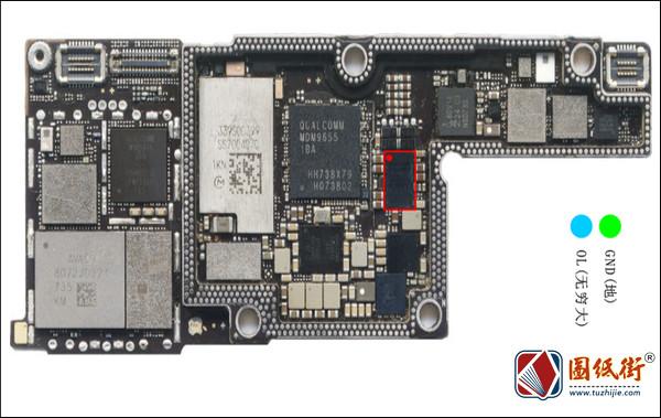 iPhoneX U3400无线充电IC对地阻值图