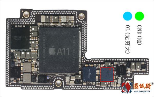 iPhoneX U4400 FaceID供电管对地阻值图