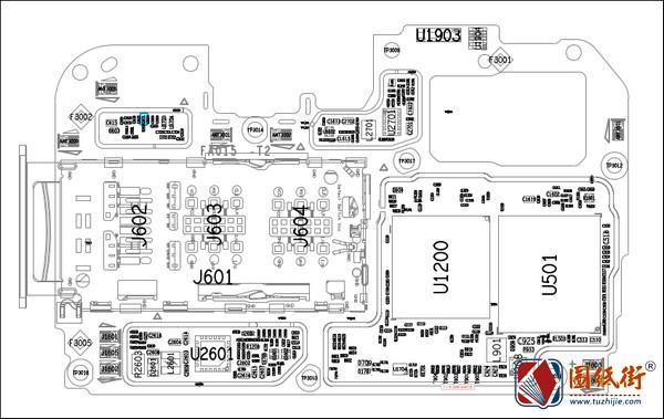 OPPO A5S主板元件位号图
