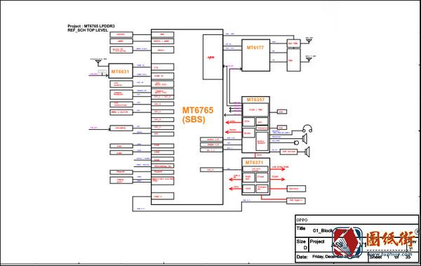 OPPO A5S手机电路原理图纸下载