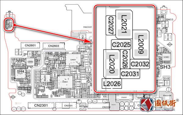 OPPO R15梦境版主板元件位号图
