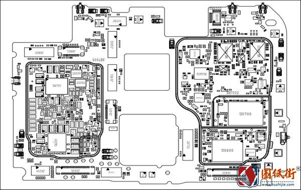 红米K30 5G手机图纸之主板位号图
