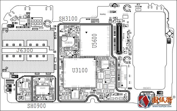 小米9主板元件位号图