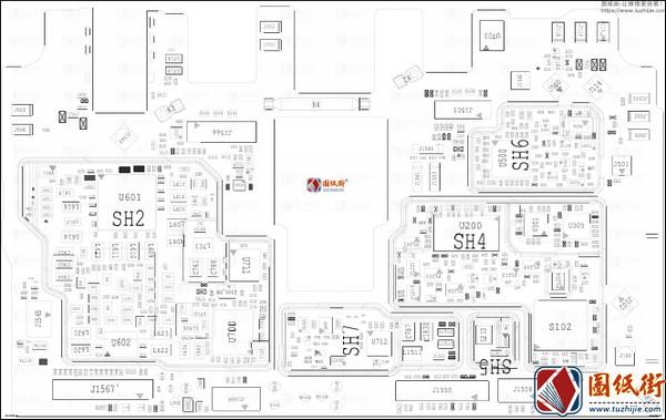 Xiaomi Pocophone F1 位号图PCB Layout