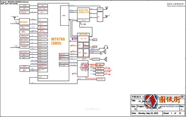 小米手机维修图纸-红米10Xpro电路原理图+位号图