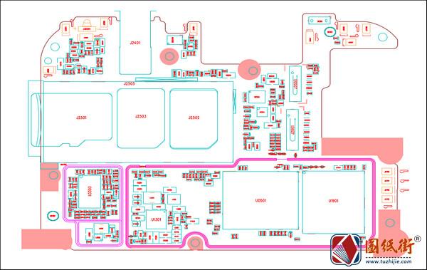 红米Redmi 7 onclite主板元件位号图