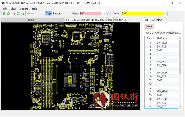 ASRock B150M Pro4V Rev 1.02华擎主板点位图