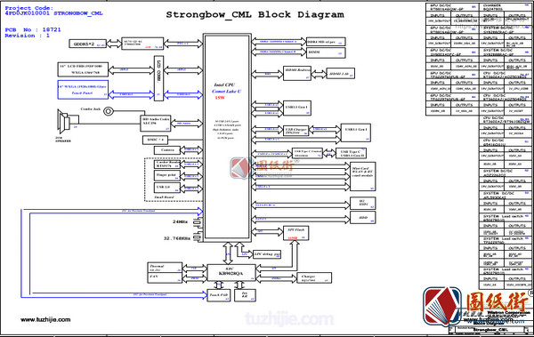 Acer SF314-58 STRONGBOW_CML 18721-1  Rev 1宏基笔记本电路图