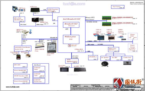 Acer E1-572 E5-571 LA-B161P REV 0.2 1.0笔记本图纸