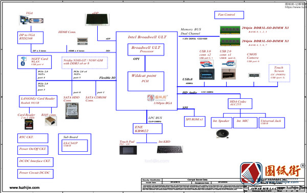 Acer E5-473 E5-473G E5-473T E5-473TG LA-C341P R1.0宏基笔记本图纸