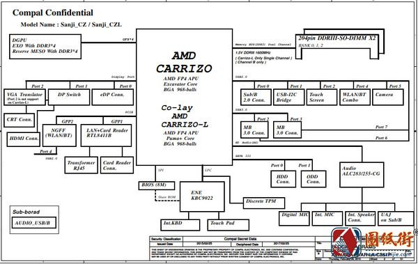 ACER E5-452G A4WAZ A4WAR LA-C351P REV 1A宏基笔记本图纸