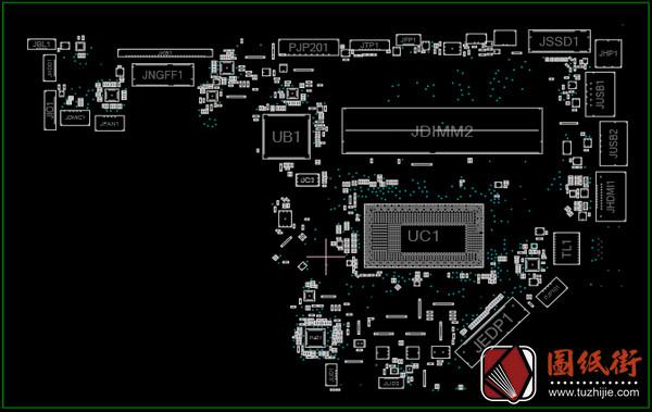 Acer Extensa 15 EX215-51K LA-H782P EH7La1 Rev 1A宏基笔记本点位图