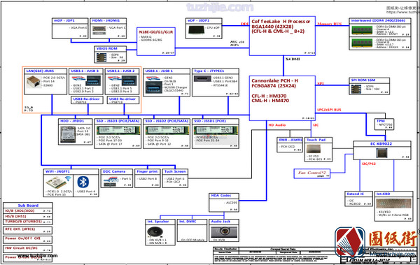 Acer Nitro5 AN515-52 FH52M LA-J891P Rev0.1宏基笔记本图纸