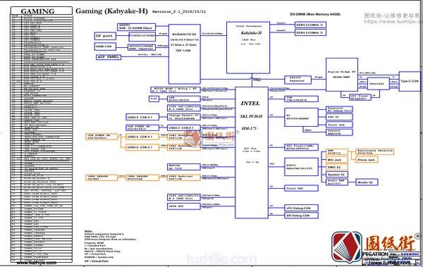Acer Predator 15 G9-591G P5NCN_P7NCN Rev 2.1宏基掠夺者笔记本图纸