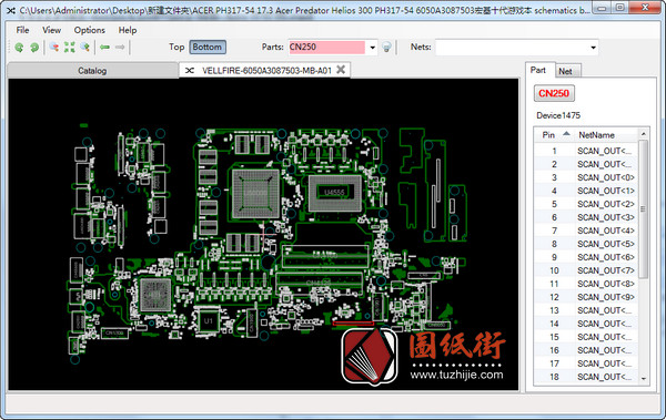 Acer Helios 300 PH317-54 6050A3087503-MB-A01掠夺者笔记本点位图