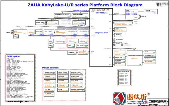 ACER A315-55K Quanta ZAU ZAUA DA0ZAUMB8D0 REV 1A宏基笔记本电路原理图纸