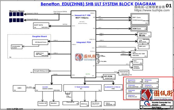 Acer C740 Quanta ZHNB DAZHNMB1AD0 REV A宏基笔记本图纸