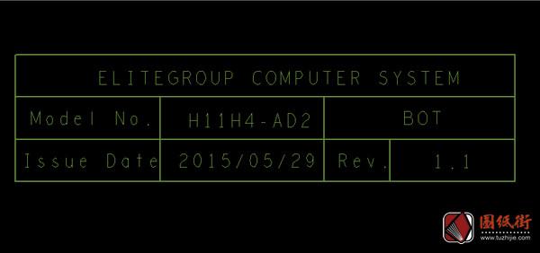 ECS H11H4-AD2 ACER ASPIRE XC-710 REV 1.1主板点位图