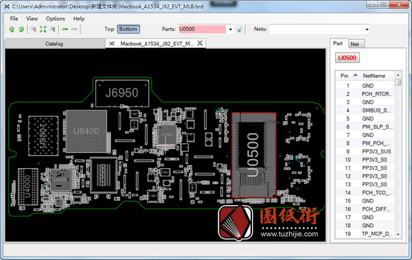 Apple A1534 J92 820-00045苹果笔记本点位图纸