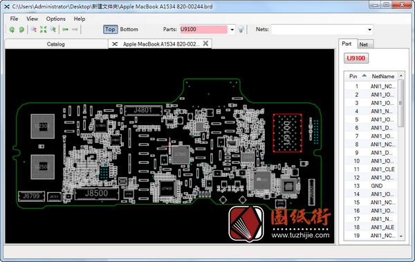 APPLE A1534 820-00244苹果笔记本点位图