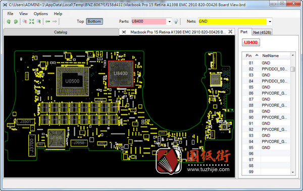 Apple A1398 EMC 2910 820-00426苹果笔记本点位图