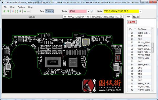 Apple A1990 820-01041 051-02643 X1190苹果笔记本点位图