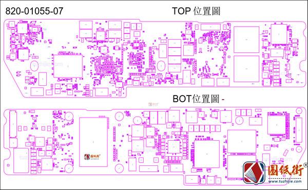 APPLE MACBOOK AIR 2020 A2179 820-01055 笔记本元件位置图
