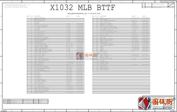 Apple A1932 X1032 820-01521-02 051-04039苹果笔记本图纸