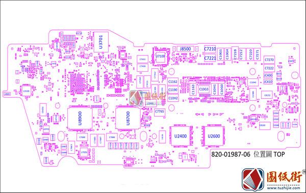 Apple A2289 820-01987 X1782 MLB苹果笔记本位置位号图