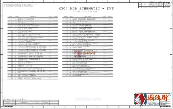 Apple A1502 820-4924-A X304 MLB苹果笔记本图纸