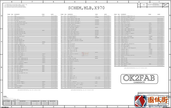 Apple A2141 820-01700 x970苹果笔记本电路图