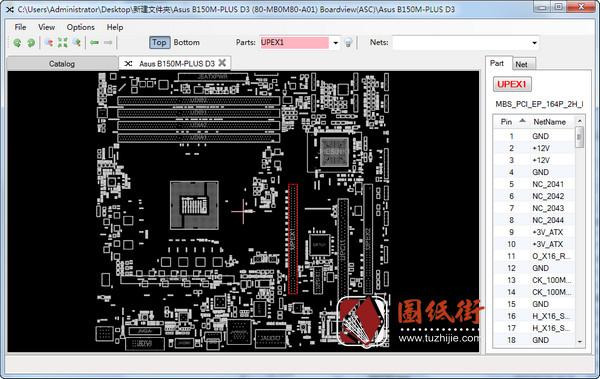 Asus B150M-PLUS D3 (80-MB0M80-A01)华硕主板点位图