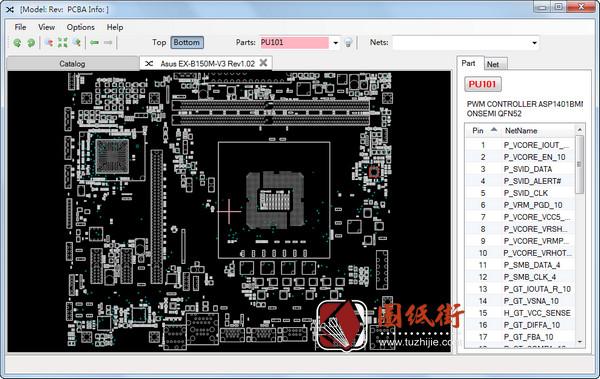 Asus EX-B150M-V3 Rev1.02主板点位图下载