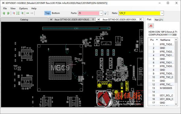 Asus GT740-OC-2GD5华硕系列显卡点位图