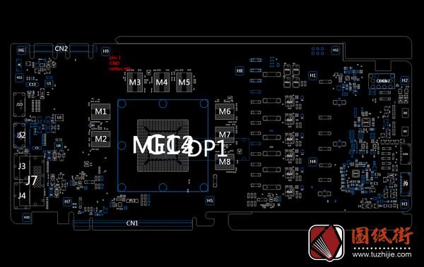 ASUS GTX1070 CG411P 8GB GDDR5X Rev 1.0华硕显卡点位图
