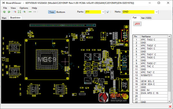 GTX 750 Ti C2010MP REV 3.00 BoardView点位图.fz